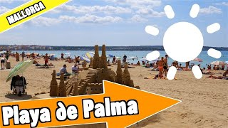 Playa de Palma Mallorca Spain:  Tour of beach and resort