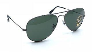 Ray-Ban RB3025 Aviator Classic Sunglasses Gunmetal, Green Classic G-15 Lenses 58mm (W0879 58-14)