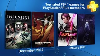 PS4 - PlayStation Plus - Free Games Trailer (December 2014 & January 2015)
