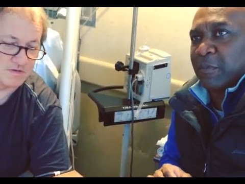 Thurman Thomas visits Jim Kelly