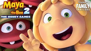 MAYA THE BEE - THE HONEY GAMES   All Clips and Trailer Compilation - Animated Family Movie