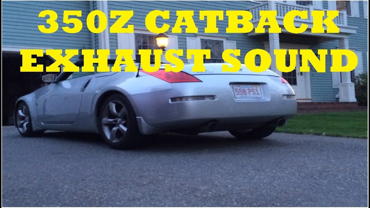 350z spec d tuning catback startup and exhaust sound