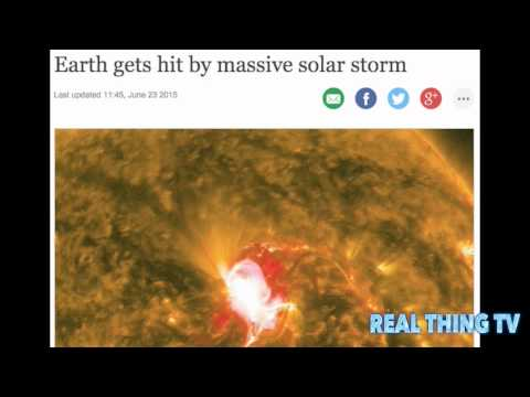 Earth gets hit by massive solar storm