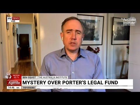 Christian Porter's Blind Trust Farce   Ben Oquist on Sky News