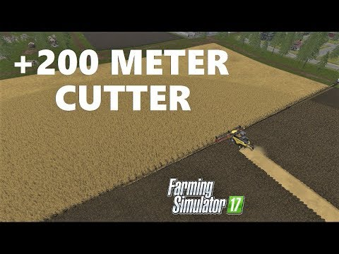 Farming Simulator 17 | +200 METER CUTTER & WHEAT HARVESTING & JUST ONE TOUR & INCOME €55000