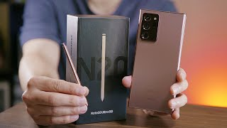 Note 20 Ultra: full Mystic Bronze unboxing!