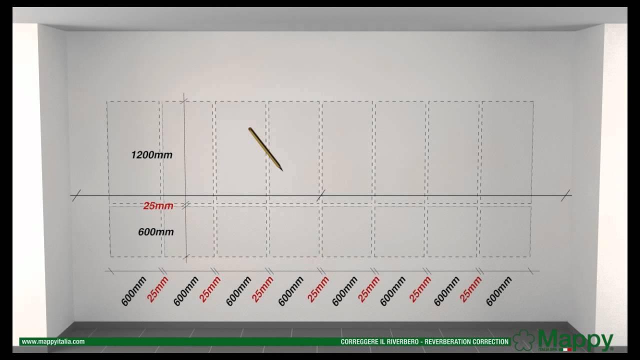 Mappy italia: correzione riverbero parete nastro adesivo