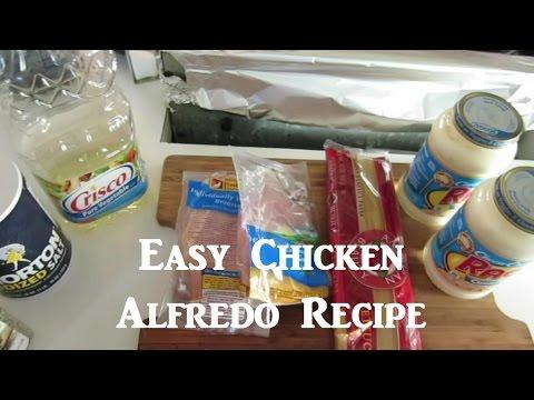 Chicken Fettuccine Alfredo Recipe!