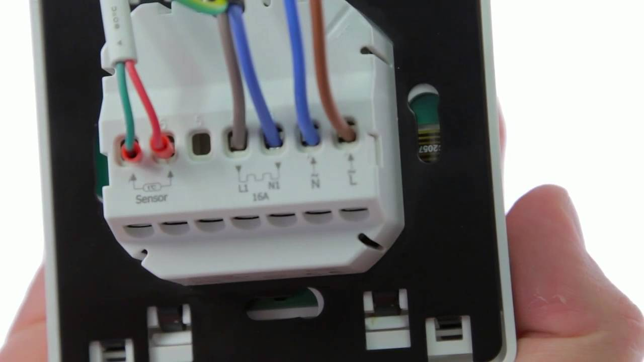 wiring connection diagram turntable cartridge cable trimming for comfortzone 8259 electric underfloor heating thermostat - youtube