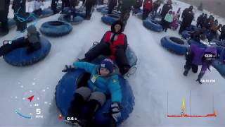 Snow Tubing - Camelback PA Snowtubing Dec 2017