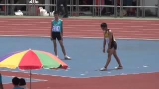 彰化縣培英國小劉政豪102年全國小學田徑錦標賽男子跳高決賽166cm第二名