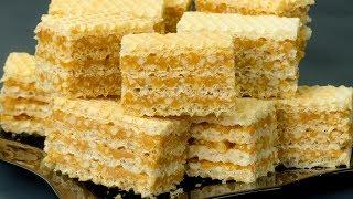 Вспомним детство! Шустрый вафельный торт с арахисом, без выпечки, всего за 15 минут.   Appetitno.TV