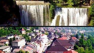 BOSNIA & HERZEGOVINA-JAJCE CITY-WATERFALL IN 4K