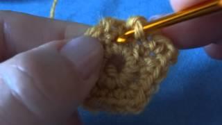 Вязание крючком с нуля. Пятиугольный мотив крючком. Урок 31.
