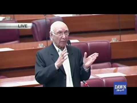Sartaj Aziz address in National Assembly