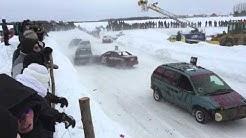 Issoudun Ice Track - Notre-Dame-du-Sacré-Cœur-d'Issoudun, Quebec - Ice racing action!