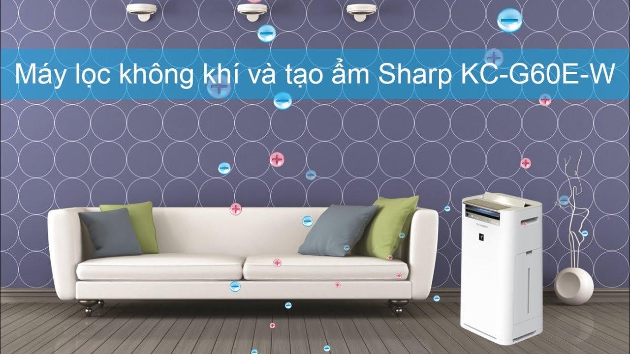 """Kết quả hình ảnh cho Máy lá»c không khí Sharp KC-G60E-W"""""""