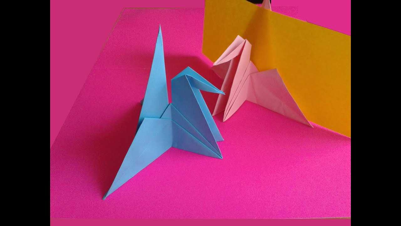 Origami crane place card holder youtube origami crane place card holder jeuxipadfo Gallery