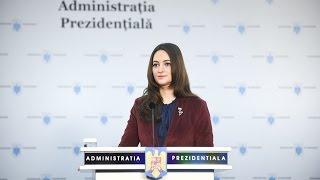 Declaratie de presa - Purtatorul de cuvant al Presedintelui Romaniei, Madalina Dobrovolschi