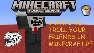9 Ways To Troll Your Friends in Minecraft Pocket Edition
