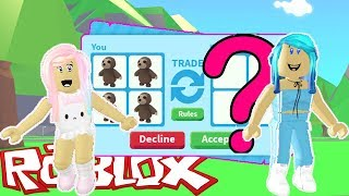 I Traded All Sloths In Roblox Adopt Me