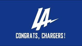 Congrats, Chargers!