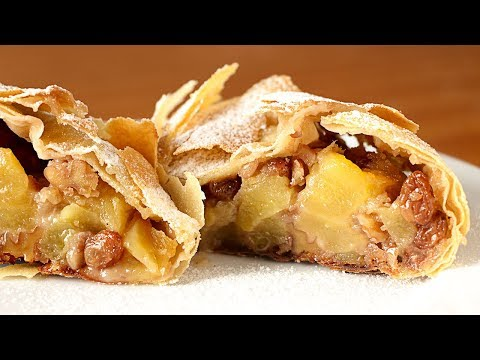 Mucho relleno y poca masa - Receta de AUTÉNTICO STRUDEL de manzana