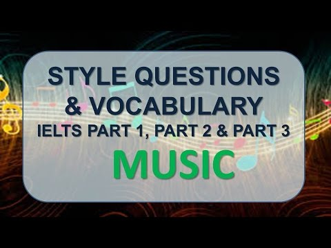 IELTS Speaking Part 1, Part 2, Part 3 With Vocabulary | Topic: Music