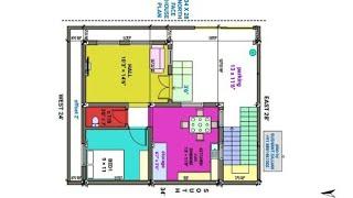 34 × 28 North face house plan naksha