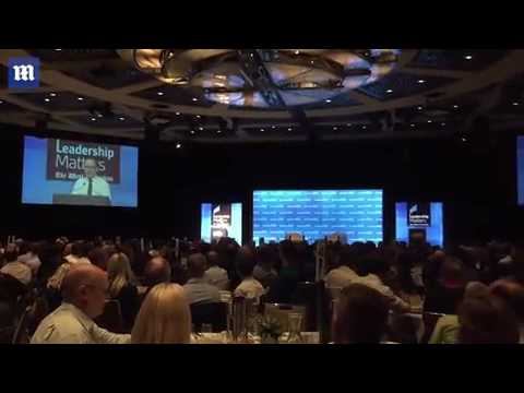 Qantas CEO Alan Joyce jokes about a pie being thrown in his face