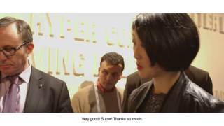 Renault @ LeWeb'13 : la ministre Fleur Pellerin teste ZOE