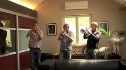 Janne Toivonen, Tero Lindberg, Jukka Eskola testing van Laar trumpets