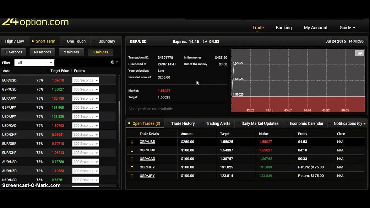 binary options trading strategy youtube broadcasting