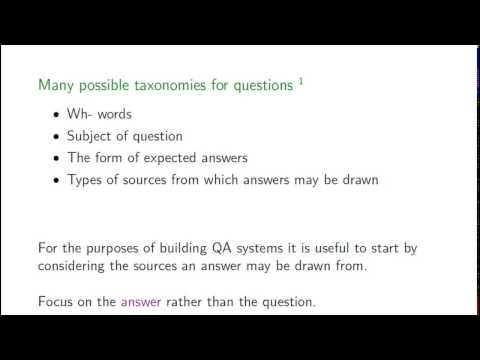 Lecture 11 - Question Answering [Karl Moritz Hermann]