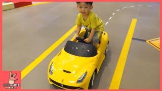 키즈 카페 어린이 기차 타요 버스 자동차 페라리 스포츠카 자동차 타기 ♡ 테마파크 놀이터 장난감 놀이 Tayo Bus Car Ride Toy | 말이야와아이들 MariAndKids