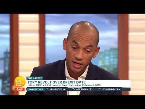 Chuka Umunna MP Comments on the 'Tory Revolt'   Good Morning Britain