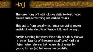Hajj - The Ceremony of Hajj includes visits to designated places