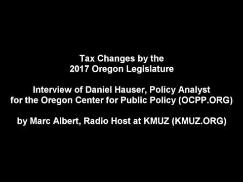 Changes to Tax Policy in Oregon You May Have Missed - Radio Interview