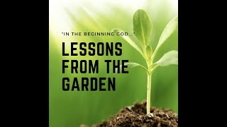 Lessons From the Garden - In the Beginning God...
