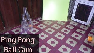 How to make powerful shotgun with ping pong ball-Pringles chips container