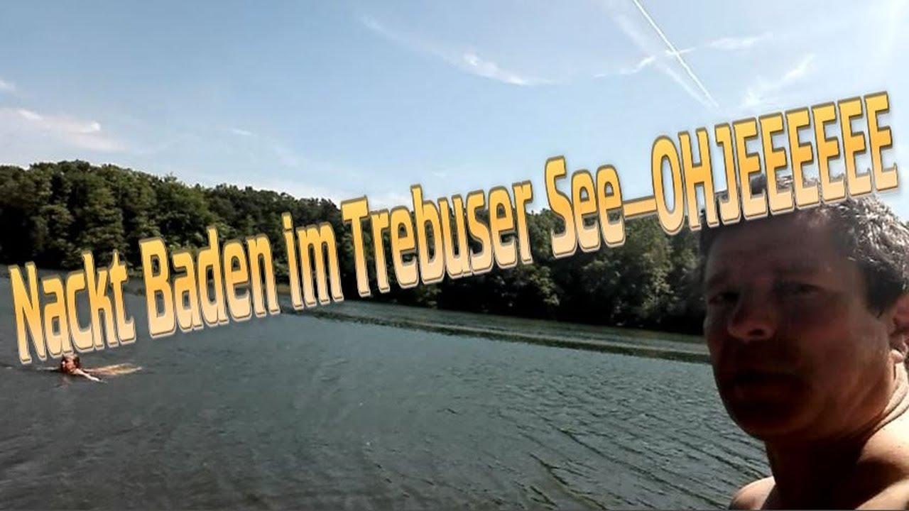 Familie Zietsied/Nackt Baden im Trebuser See und