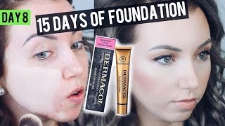 Does it really cover?! DERMACOL Makeup Cover Foundation {Review & Demo} 15 DAYS OF FOUNDATION