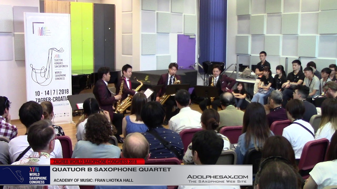 Ballade by Takashi Niigaki - Quatuor B Saxophone Quartet - XVIII World Sax Congress 2018 #adolphesax