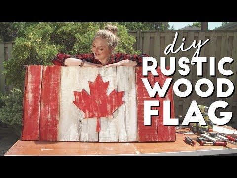 Rustic Wooden Canadian Flag DIY