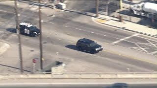 Authorities pursue driver in L.A. area