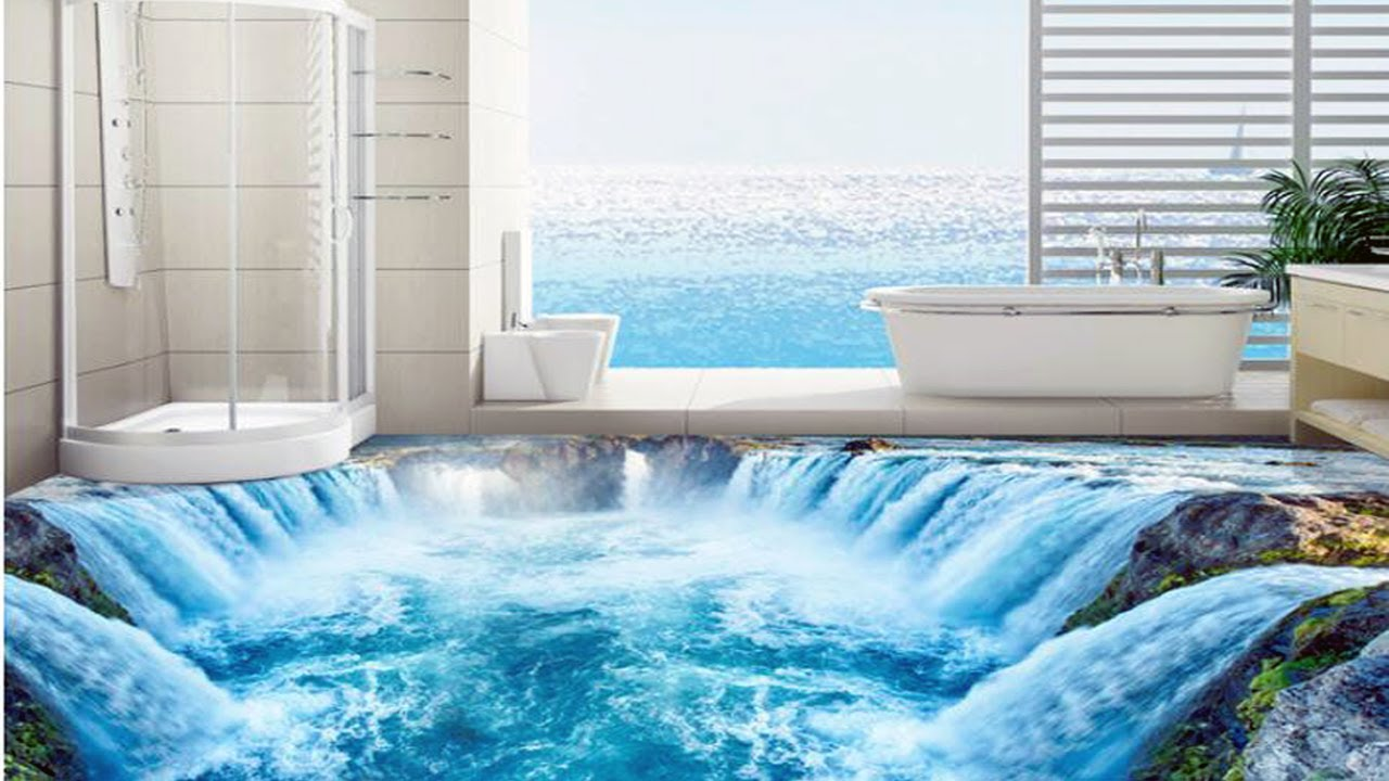 Stylish 3d bathroom floors as ideas and suggestions anyone for 3d wallpaper for bathroom