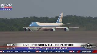 WATCH: President Trump Air Force One Departure - First Foreign Trip (FNN)