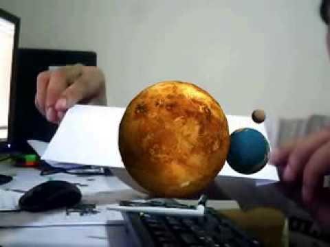 Augmented Reality ARTOOLKIT SolarSystem test