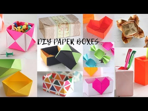 18 Easy DIY Paper Boxes | Paper Craft Ideas | Compilation
