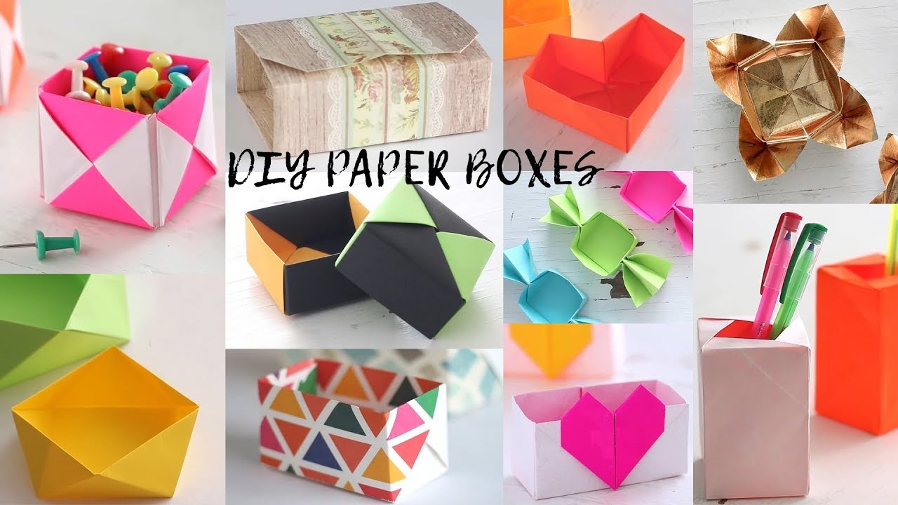 18 Easy Diy Paper Boxes Paper Craft Ideas Compilation Youtube
